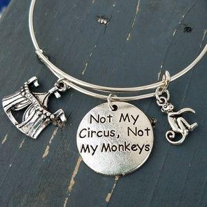 Jewelry - Not my circus, not my monkeys charm bracelet
